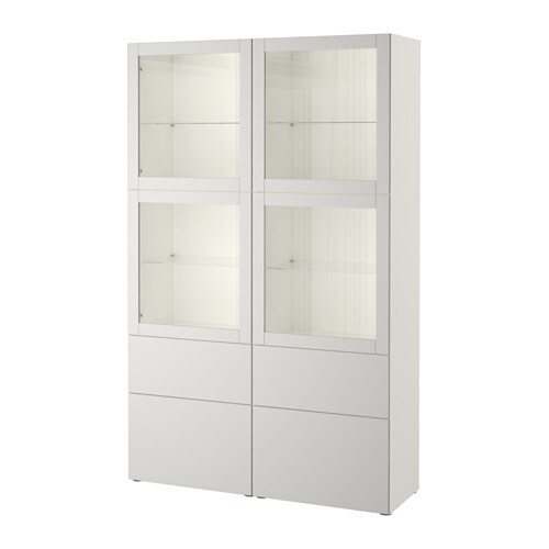 best vitrine wei sindvik lappviken klarglas h 39 grau schubladenschiene sanft schlie end ikea. Black Bedroom Furniture Sets. Home Design Ideas