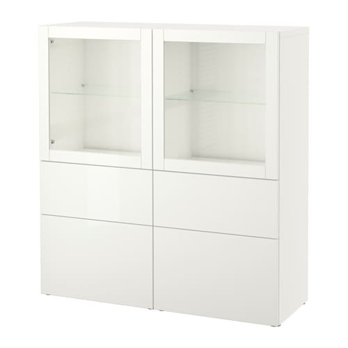best vitrine lappviken sindvik klarglas wei schubladenschiene sanft schlie end ikea. Black Bedroom Furniture Sets. Home Design Ideas