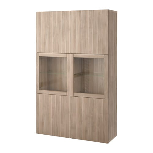 best vitrine lappviken sindvik grau las nussbaumnachb klarglas ikea. Black Bedroom Furniture Sets. Home Design Ideas