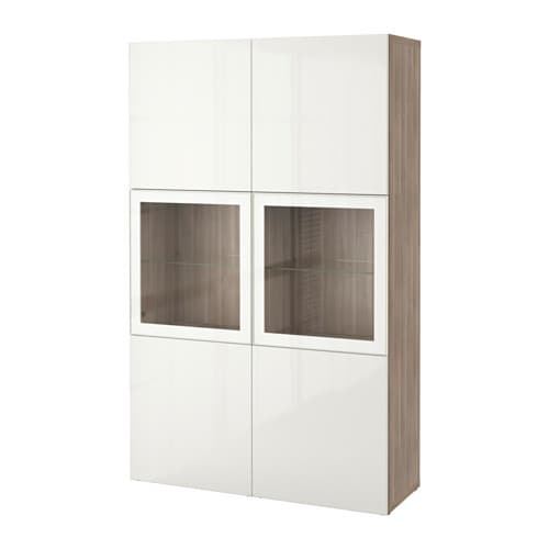 best vitrine grau las nussbaumnachb selsviken hochglanz klarglas wei ikea. Black Bedroom Furniture Sets. Home Design Ideas