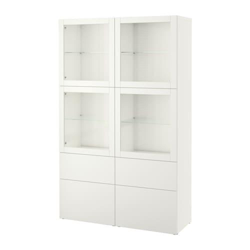 best vitrine lappviken sindvik klarglas wei schubladenschiene sanft schlie end ikea. Black Bedroom Furniture Sets. Home Design Ideas