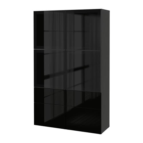 wohnzimmer vitrinen ikea:IKEA Besta Storage Combination W Glass Doors