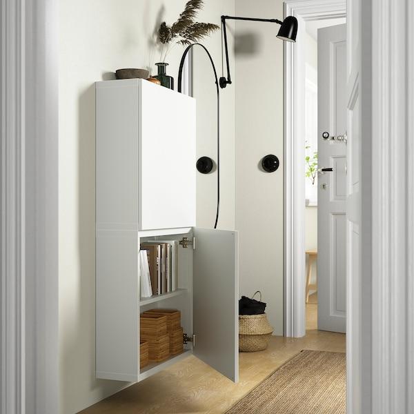 BESTÅ Wandschrank mit 2 Türen, Lappviken weiß, 60x22x128 cm