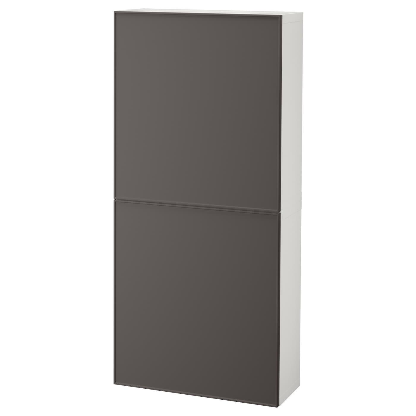 BESTÅ, Wandschrank mit 2 Türen, weiß 092.034.37