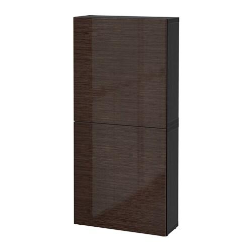 best wandschrank mit 2 t ren schwarzbraun selsviken hochglanz braun ikea. Black Bedroom Furniture Sets. Home Design Ideas