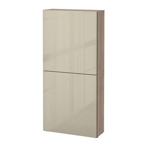 best wandschrank mit 2 t ren grau las nussbaumnachb selsviken hochglanz beige ikea. Black Bedroom Furniture Sets. Home Design Ideas