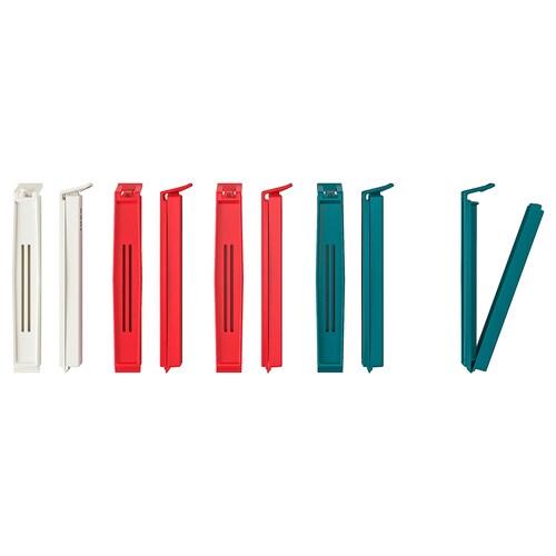 BEVARA Verschlussklips versch. Farben 10 Stück