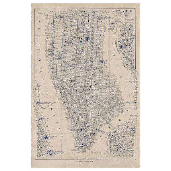 BILD Bild, Manhattankarte, 61x91 cm