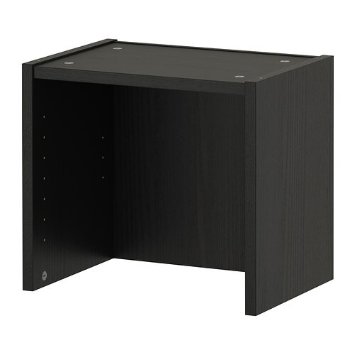 billy aufsatzregal schwarzbraun ikea. Black Bedroom Furniture Sets. Home Design Ideas