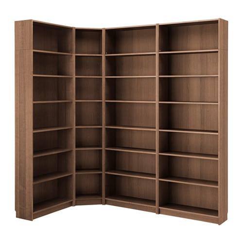 Bücherregal braun  BILLY Bücherregal - braun Eschenfurnier, 215/135x237x28 cm - IKEA