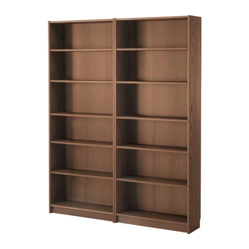 Bücherregal braun  BILLY Bücherregal - braun Eschenfurnier - IKEA