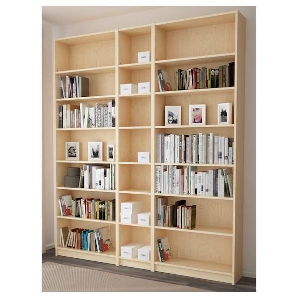 BILLY Bücherregal, Birkenfurnier, 200x28x237 cm