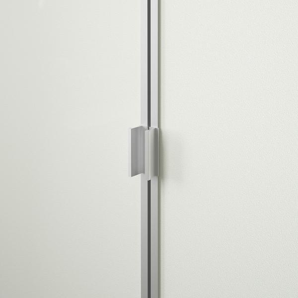 BILLY Bücherregal mit Türen, weiß, 80x42x202 cm