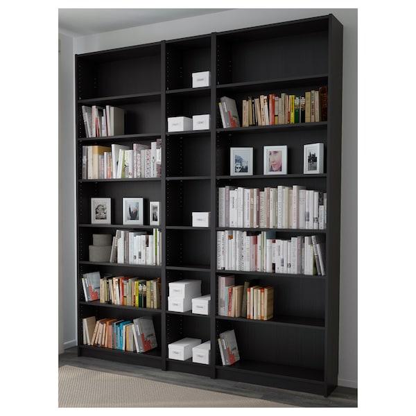 BILLY Bücherregal, schwarzbraun, 200x28x237 cm