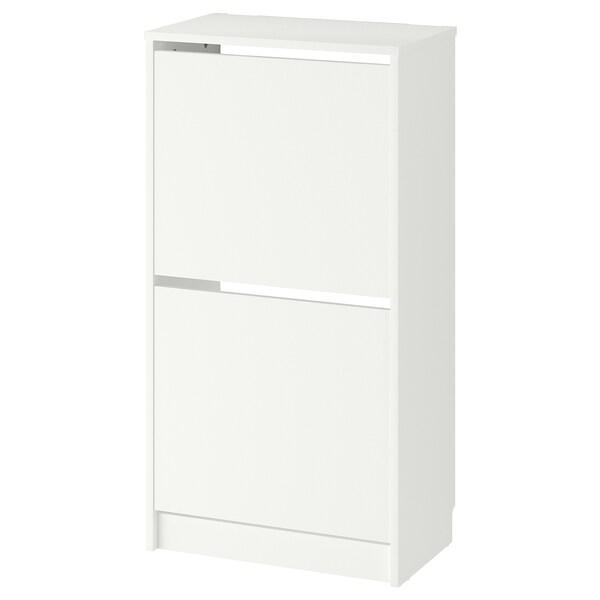 BISSA Schuhschrank, 2fach, weiß, 49x28x93 cm