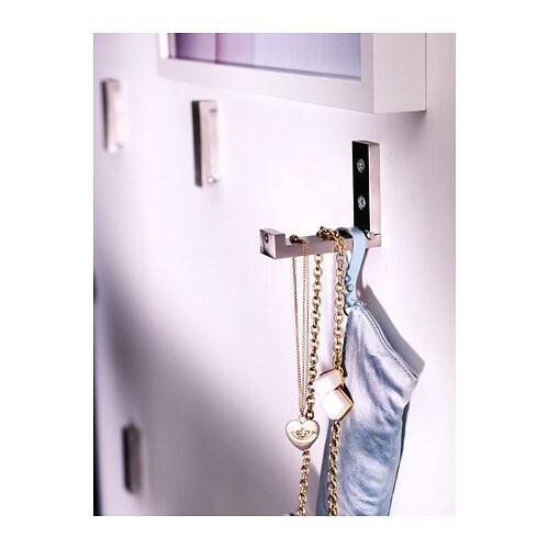 ikea bj rnum haken aluminium klappbar 8cm 3 st ck garderobenhaken wandhaken ebay. Black Bedroom Furniture Sets. Home Design Ideas