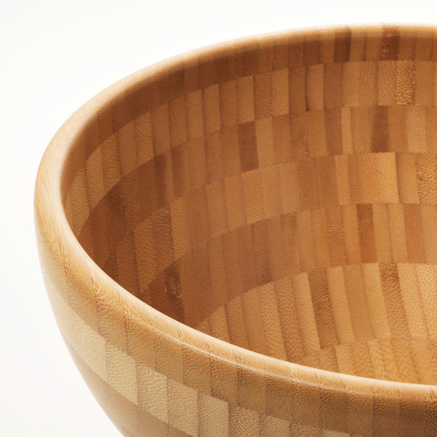IKEA BLANDA MATT Schüssel aus Bambus; 20cm Holzschüssel Servierschüssel