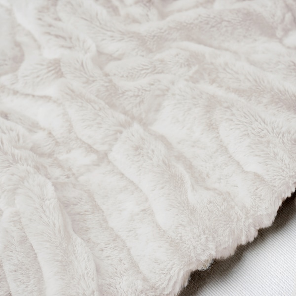BLÅREGN Plaid, weiß, 130x170 cm