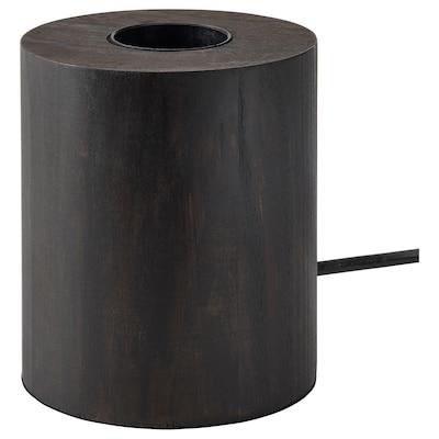 BLEKKLINT Tischleuchte, dunkelbraun Holz, 11 cm