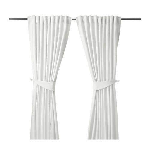 Vorhang Ikea ikea blekviva 2x gardinenstore weiß je 145x300cm vorhang vorhänge