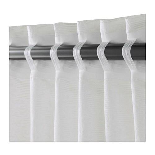 ikea blekviva 2x gardinenstore wei je 145x300cm vorhang vorh nge raffhalter 4250730701418 ebay. Black Bedroom Furniture Sets. Home Design Ideas