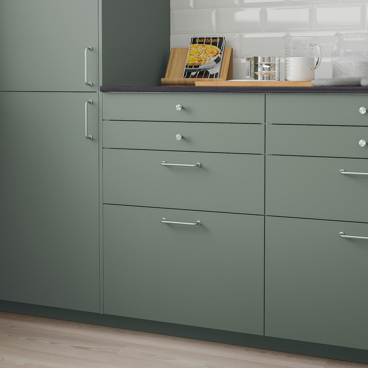 BODARP Schubladenfront - graugrün 19x19 cm