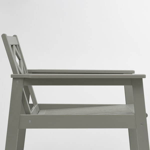 BONDHOLMEN Sessel/außen, grau las./Kuddarna grau