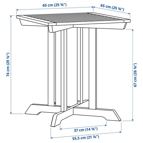 BONDHOLMEN Tisch/außen, grau, 65x65 cm
