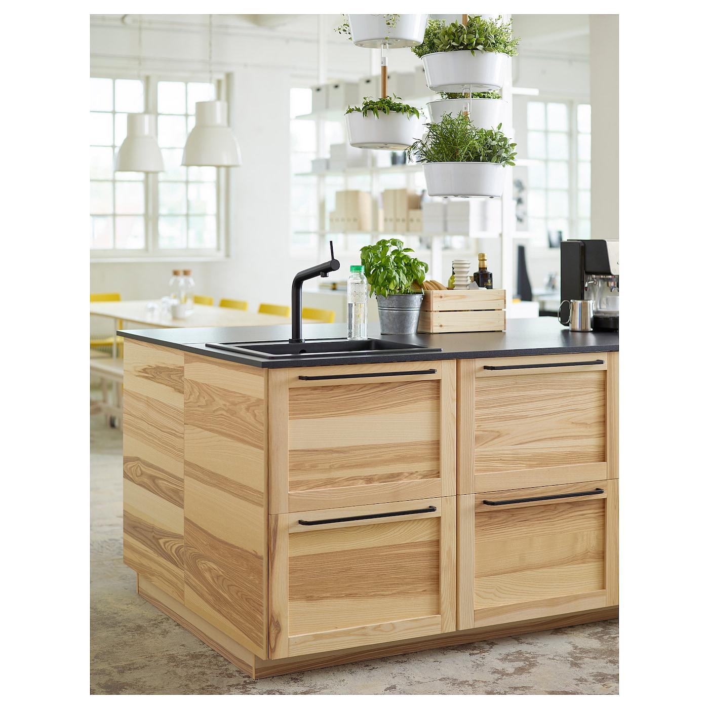 IKEA BOSJÖN Mischbatterie für Küche; in schwarz Küchenarmatur für Spültisch