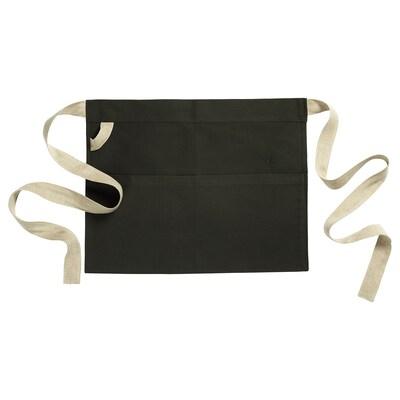 BOTANISK Schürze dunkelgrün/Handarbeit 45 cm 57 cm