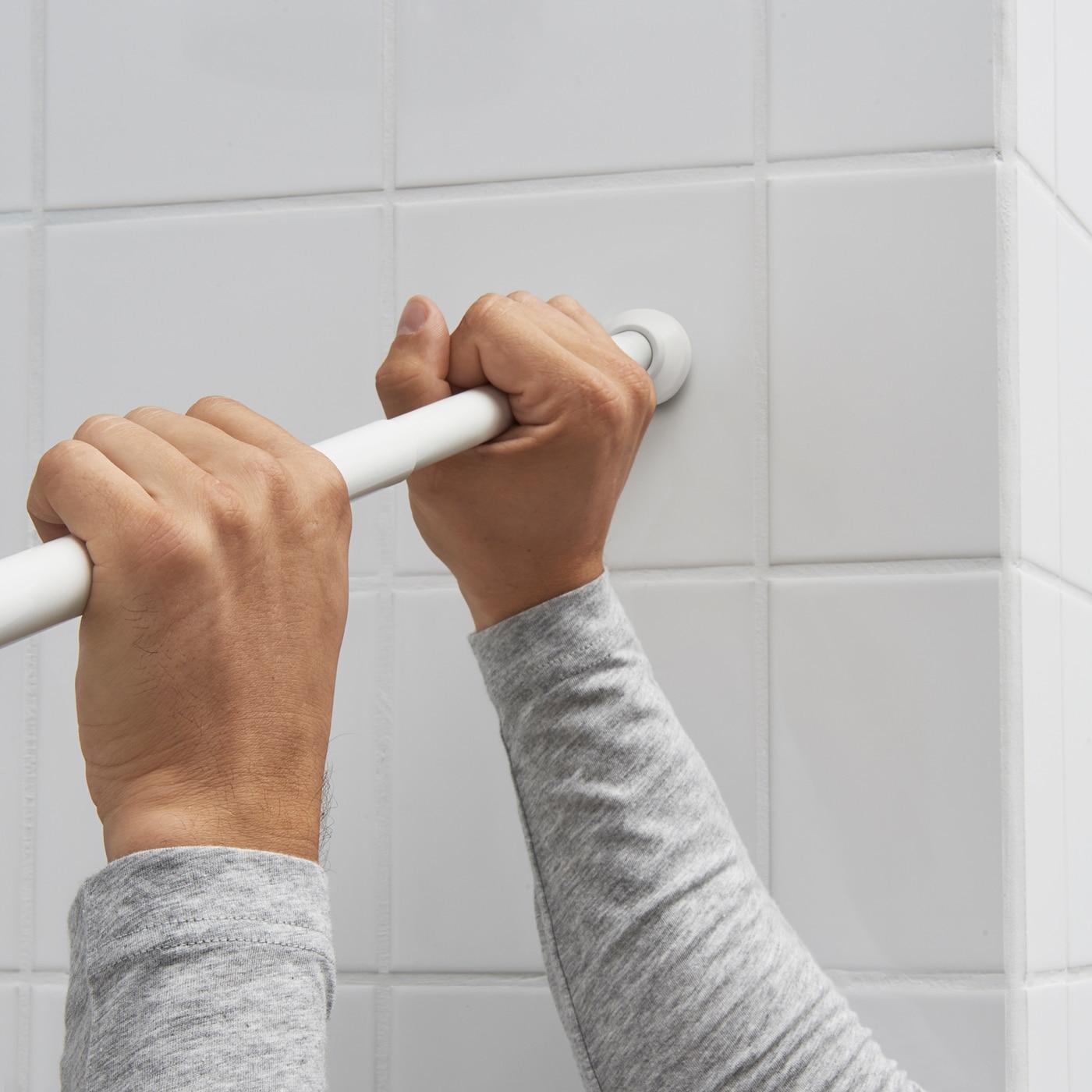 BOTAREN Duschvorhangstange   weiß 20 20 cm