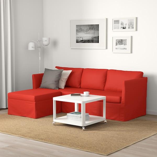 BRÅTHULT Ecksofa 3-sitzig, Vissle rot/orange