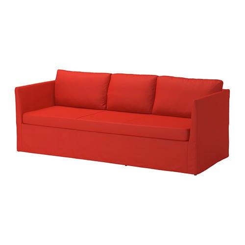 br thult 3er sofa vissle rot orange ikea. Black Bedroom Furniture Sets. Home Design Ideas