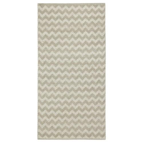 BREDEVAD Teppich flach gewebt Zickzackmuster beige 150 cm 75 cm 1.13 m²