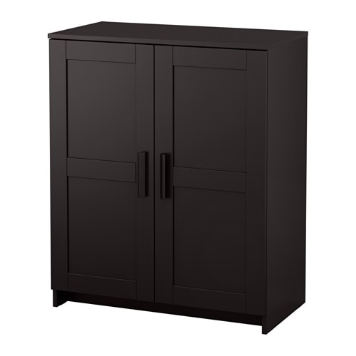 brimnes schrank mit t ren schwarz ikea. Black Bedroom Furniture Sets. Home Design Ideas
