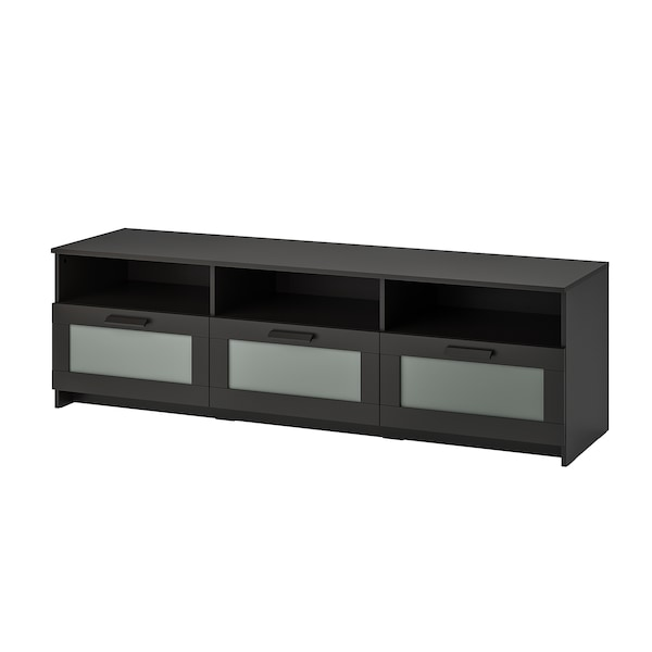 BRIMNES TV-Bank, schwarz, 180x41x53 cm
