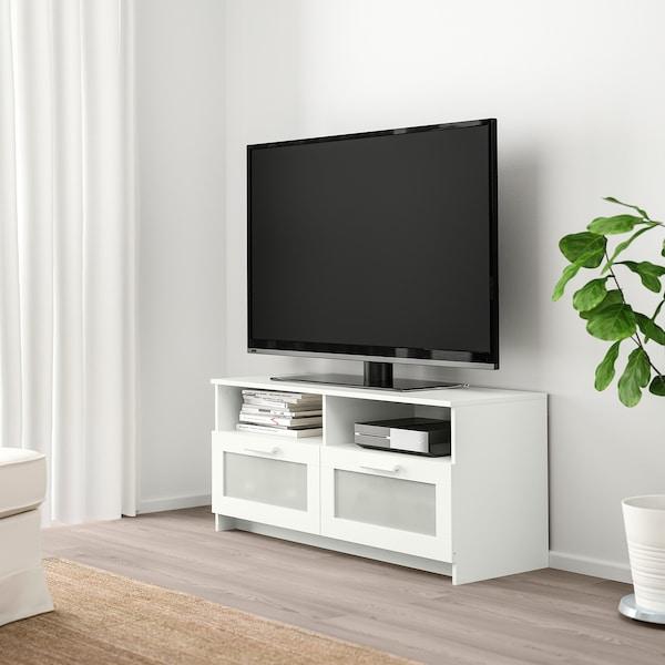 BRIMNES TV-Bank, weiß, 120x41x53 cm
