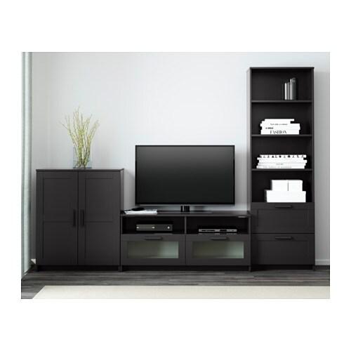 Brimnes Tv Mobel Kombination Schwarz Ikea