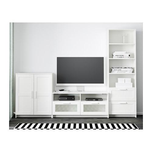 brimnes tv m bel kombination wei ikea. Black Bedroom Furniture Sets. Home Design Ideas
