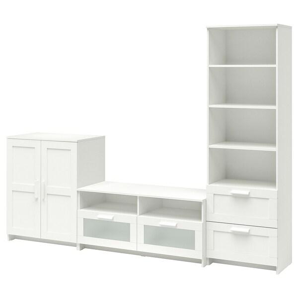 BRIMNES TV-Möbel, Kombination weiß 258 cm 41 cm 190 cm