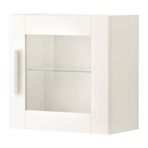 brimnes wandschrank mit vitrinent r wei ikea. Black Bedroom Furniture Sets. Home Design Ideas