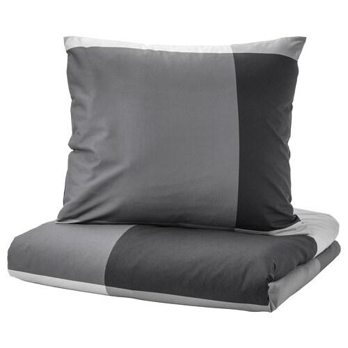 BRUNKRISSLA Bettwäscheset, 3-teilig schwarz 152 Quadratzoll 2 Stück 220 cm 240 cm 80 cm 80 cm