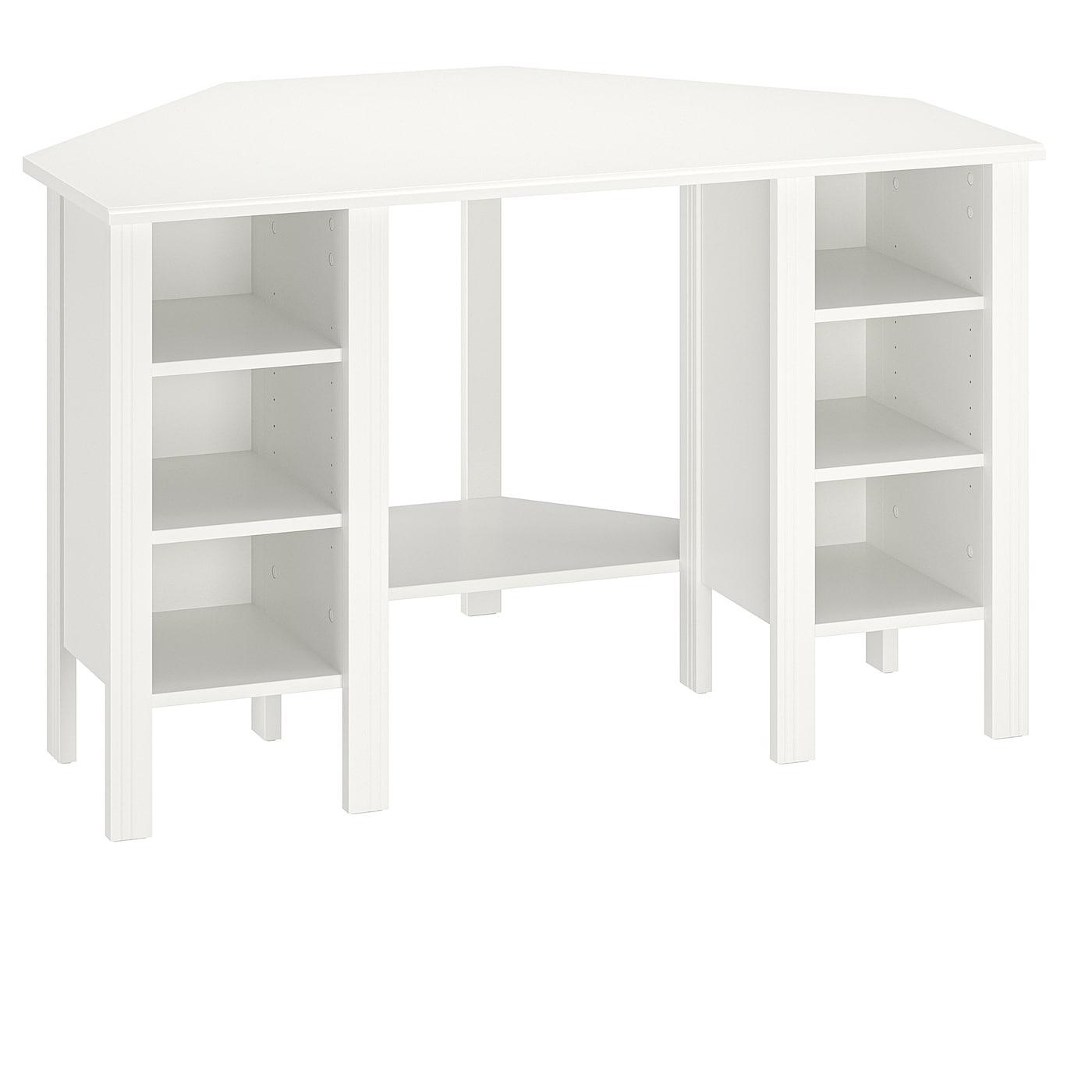 BRUSALI Eckschreibtisch - weiß 120x73 cm