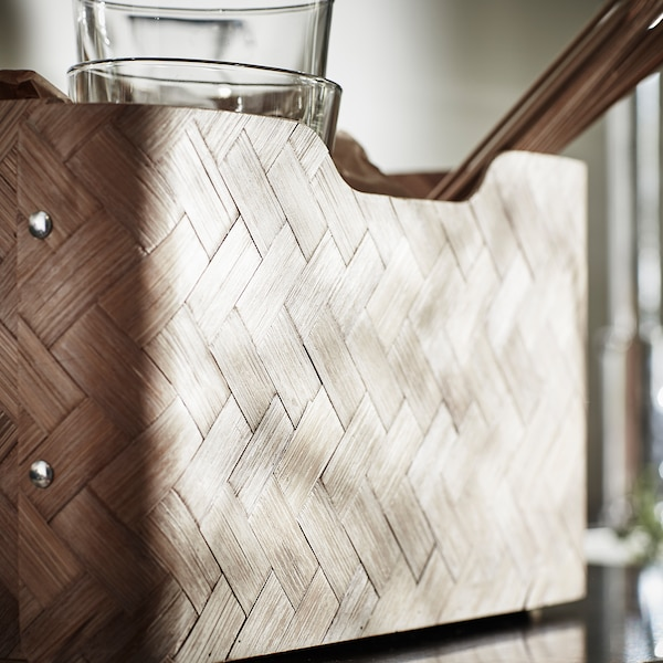 BULLIG Box, Bambus/braun, 32x35x16 cm