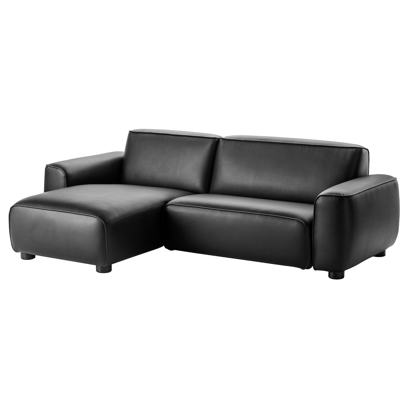 kunstlededersofa dagarn mit recamiere von ikea nur 699 00 cherry m bel. Black Bedroom Furniture Sets. Home Design Ideas