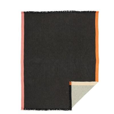 DEKORERA Plaid, anthrazit, 130x160 cm