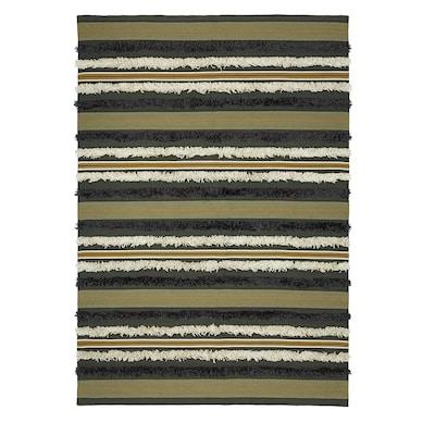 DEKORERA Teppich flach gewebt, gestreift, 170x240 cm