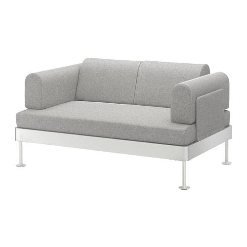 delaktig 2er sofa tallmyra wei schwarz ikea. Black Bedroom Furniture Sets. Home Design Ideas