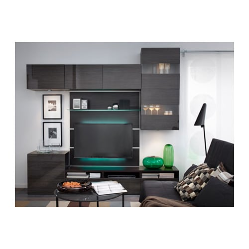 ikea ledberg led lichtleiste 75cm bunt 3 fach steckbar je 25cm komplettset neu ebay. Black Bedroom Furniture Sets. Home Design Ideas