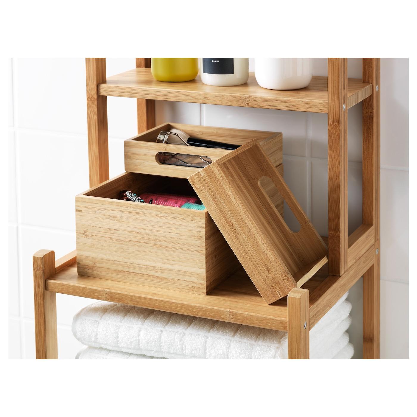 IKEA DRAGAN Boxen Set aus Bambus; 2tlg.